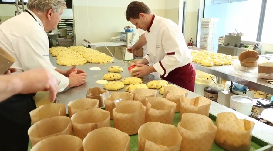 Handmade Panettoni and Hands in Dough with Il Pane Quotidiano Christmas 2014